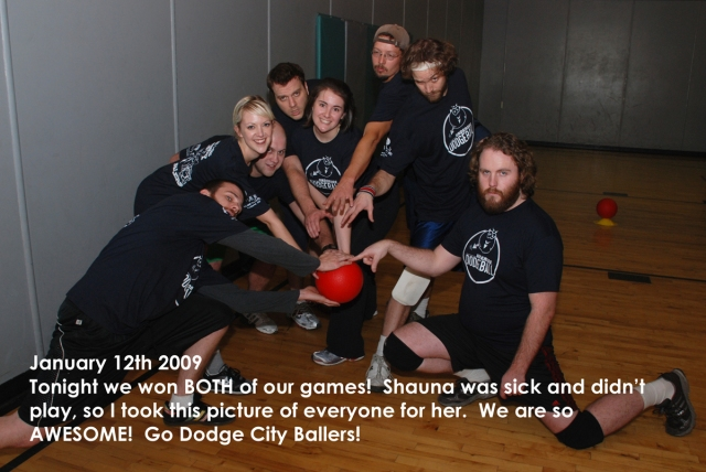 The ass kickin-ist dodgeball team in town (sans Shauna & myself)