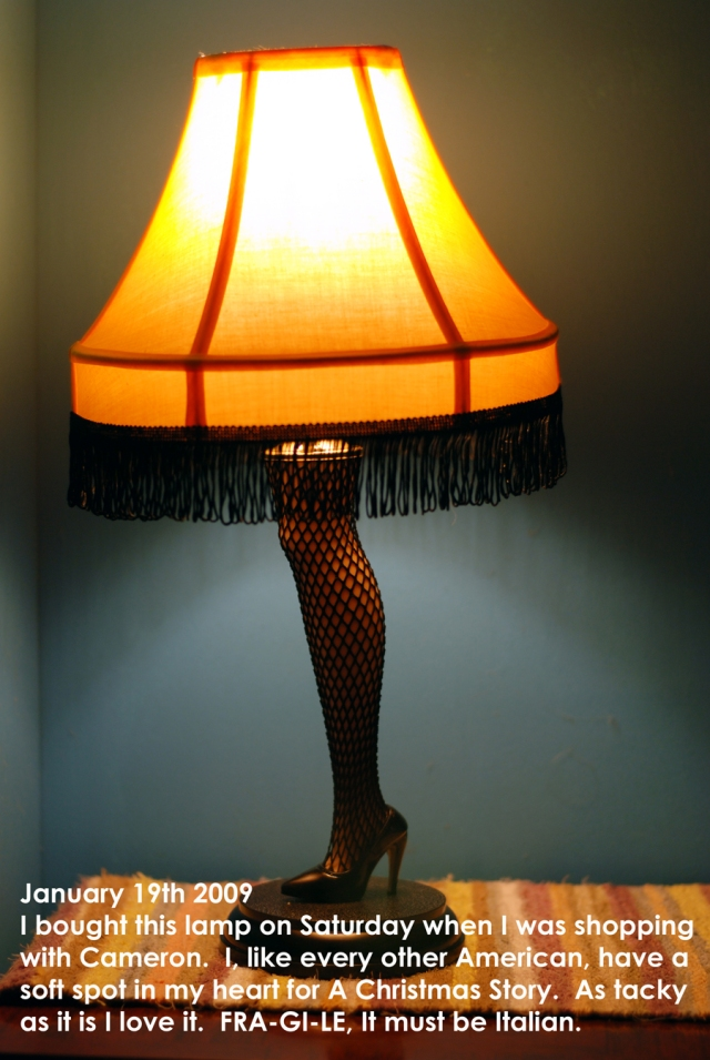 This is the greatest lamp!  The leg lights up too!