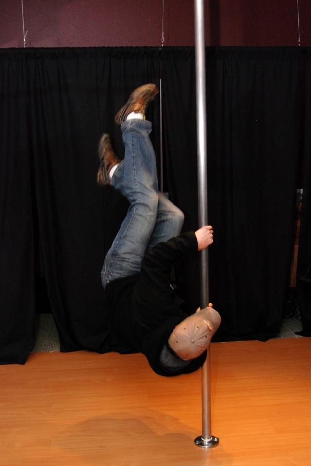Dan workin the pole
